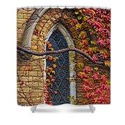 Church Window Autumn Shower Curtain