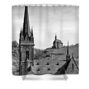 Churches Of Lorchhausen Bw Shower Curtain