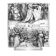 Church/state Cartoon, 1870 Shower Curtain