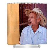 Cigar Shower Curtain