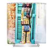 Cigar Store Indian - New Orleans Shower Curtain