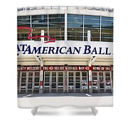 Cincinnati Great American Ball Park Entrance Sign Shower Curtain