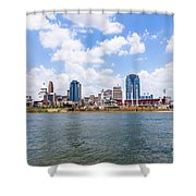 Cincinnati Skyline And Downtown City Buildings Shower Curtain