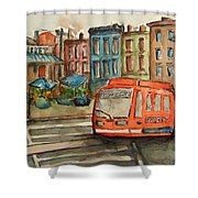 Cincinnati Streetcar Shower Curtain