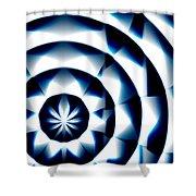 Circle Flower - Macro 1 Shower Curtain