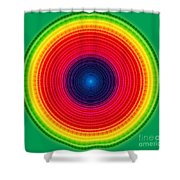 Circle X-ray Shower Curtain