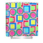Circles And Squares Shower Curtain