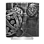 Circles Of Wood Shower Curtain