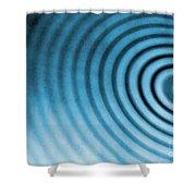 Circular Ripples Shower Curtain