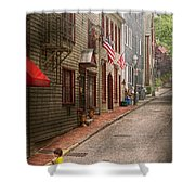 City - Rhode Island - Newport - Journey  Shower Curtain