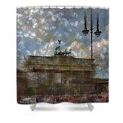 City-art Berlin Brandenburger Tor II Shower Curtain