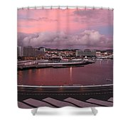City At Dusk Shower Curtain