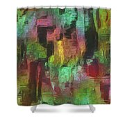City At Night Shower Curtain by Jack Zulli