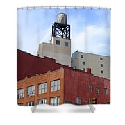 City Buildings On Bowery Shower Curtain