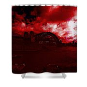 City Burning Shower Curtain