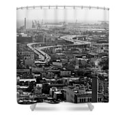 City By The Bay Shower Curtain by Valeria Donaldson