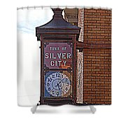 City Clock In Silver City Nm Shower Curtain