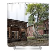 City Drug Store And Hotel Meade - Bannack Montana Ghost Town Shower Curtain