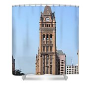 City Hall And Trolley Shower Curtain