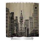 City Hall From North Broad Street Philadelphia Shower Curtain