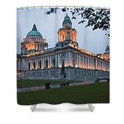 City Hall Illuminated Belfast, County Shower Curtain