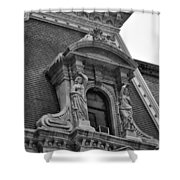 City Hall Window In Black And White Shower Curtain