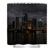 City In The Storm Shower Curtain