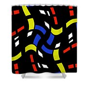 City Lights Abstract Shower Curtain