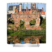 City Of Gdansk In Poland Shower Curtain