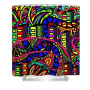 City Of Life Shower Curtain