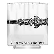 City Of London Key, 1872 Shower Curtain