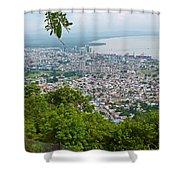 City Of Port Of Spain Trinidad 3 Shower Curtain