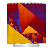 City On A Hill Shower Curtain