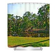 City Park Lagoon Shower Curtain