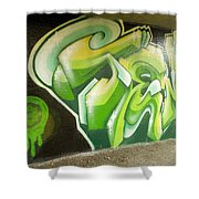 City Sponsored And Approved Graffiti Shower Curtain
