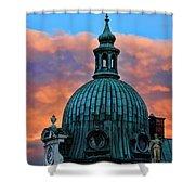City Sunset Shower Curtain