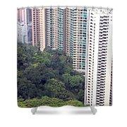 City Versus Nature Shower Curtain