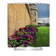 City Wall Vannes France Shower Curtain
