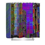 City Windows Abstract Pop Art Colors Shower Curtain