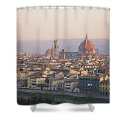 Cityscape, Florence, Italy Shower Curtain