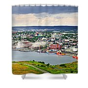 Cityscape Of Saint John's From Signal Hill Shower Curtain
