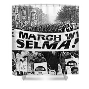 Civil Rights March, 1965 Shower Curtain by Granger