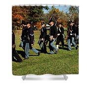 Civil Soldiers March Shower Curtain