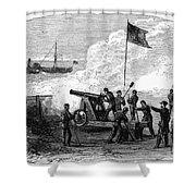 Civil War Battery Shower Curtain