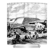 Civil War Battery Scene Shower Curtain