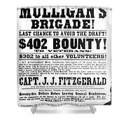 Civil War: Broadside, 1863 Shower Curtain