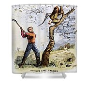 Civil War Cartoon, 1862 Shower Curtain