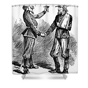 Civil War: Cartoon, 1865 Shower Curtain