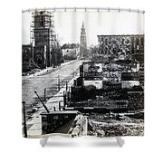 Civil War Damaged Charleston South Carolina - Meeting Street - C 1865 Shower Curtain