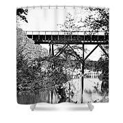 Civil War: Foot Bridge Shower Curtain